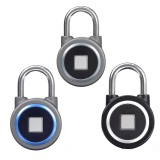 Waterproof Keyless Portable Bluetooth Smart Fingerprint Lock Padlock Anti-Theft APP Control Door Cabinet Padlock