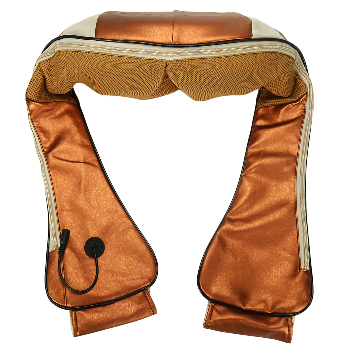 6 Keys Shiatsu Kneading Electric Massager Neck Shoulder Back Body Heating Therapy Pain Relief Belt