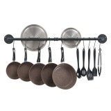 Wall Hanging Rail Rack Kitchen Utensil Wall Mounted Hanging Storage Shelf Rack