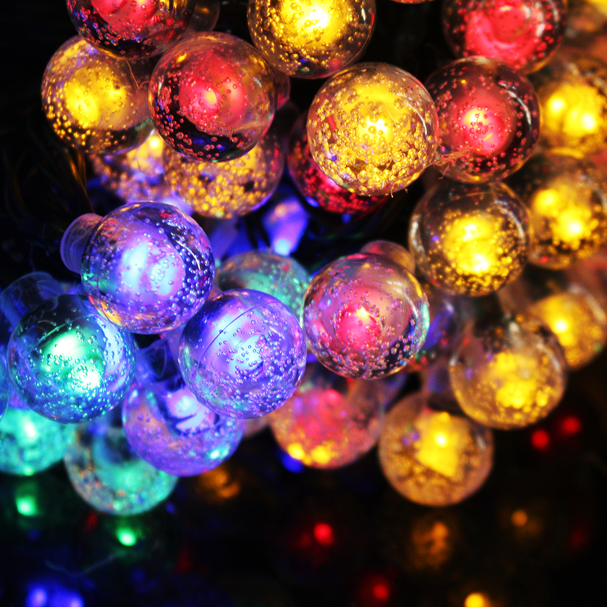 12M 8 Modes 100LED Solar String Light Crystal Ball Fairy Lamp Wedding Holiday Home Wedding Party