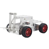 C-5 DIY Forklift Truck Car Aluminous Smart RC Robot Car Chassis Base Kit