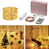 10M 100 LED USB Copper Wire String Light Waterproof+21 Keys Remote Control for Wedding Party Christmas Holiday