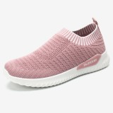 Women Breathable Knitted Lightweight Casual Soft Running Sports Sneakers
