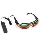 LED Glow EL Glasses Party Flashing Festival Neon Wire Bar Party Light Up Blink Goggles