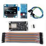 5pcs Geekcreit? WiFi ESP8266 Starter Kit IoT NodeMCU Wireless I2C OLED Display DHT11 Temperature Humidity Sensor Module For