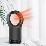 Mini Home 400W Leafless Heater Fan Desktop Anti-scalding Electric Warmer Bladeless Air Heating Winter Warmer Device