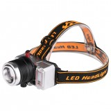 XANES WY8546 XPE White+Yellow+Blue 3 Colors Lights 9 Modes Zoomable USB Rechargeable Mini Bike Headlamp Outdoor Riding Cycling Light Head Lamp