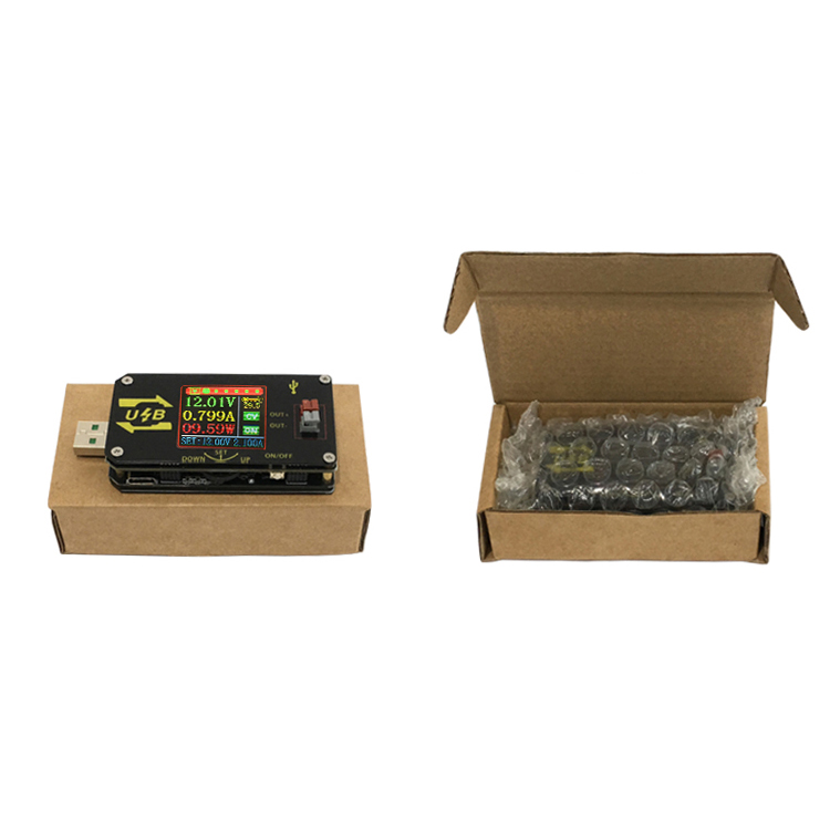 XY-UDP CNC USB Color Screen Power Supply Voltage Step-down Module Constant Voltage Constant Current 5V to 9V 12V 24V USB Voltage Controller USB Tester