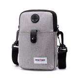 WEIXIER 8609 Multifunctional Mobile Phone Bag Outdoor Sports Waist Bag Single Shoulder Bag (Grey)