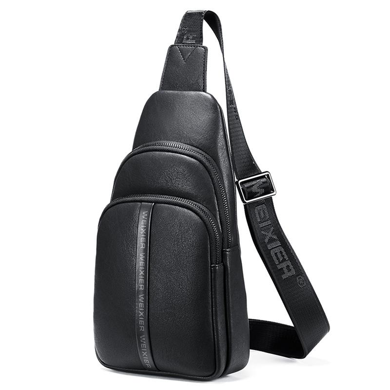 WEIXIER 9502 Multifunctional Oxford Cloth Waterproof Outdoor Sports Waist Bag Single Shoulder Bag (Black)