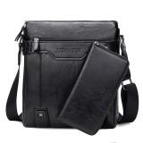 WEIXIER 15036 Multifunctional Men Business Messenger Bag Single Shoulder Bag with Handbag (Black)