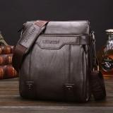 WEIXIER 15036 Multifunctional Men Business Messenger Bag Single Shoulder Bag (Dark Brown)