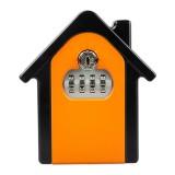 Hut Shape Password Lock Storage Box Security Box Wall Cabinet Safety Box (Orange)