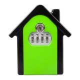 Hut Shape Password Lock Storage Box Security Box Wall Cabinet Safety Box (Green)