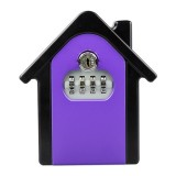 Hut Shape Password Lock Storage Box Security Box Wall Cabinet Safety Box (Purple)