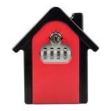 Hut Shape Password Lock Storage Box Security Box Wall Cabinet Safety Box (Red)