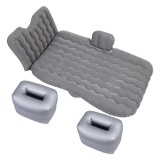 Universal Car Travel Inflatable Mattress Air Bed Camping Back Seat Couch, Size: 90x135cm (Grey)