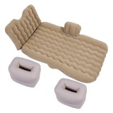 Universal Car Travel Inflatable Mattress Air Bed Camping Back Seat Couch, Size: 90x135cm (Beige)