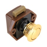 Press Type Drawer Cabinet Catch Latch Release Cupboard Door Stop Drawer Cabinet Locker for RV / Yacht / Furniture (Gold)