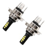 2 PCS H4 DC9-16V / 3.5W (H) 1.1W (L) / 6000K / 320LM Car Auto Fog Light 12LEDs SMD-ZH3030 Lamps, with Constant Current (White Light)