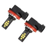 2 PCS H11 DC9-16V / 3.5W / 6000K / 320LM Car Auto Fog Light 12LEDs SMD-ZH3030 Lamps, with Constant Current (White Light)