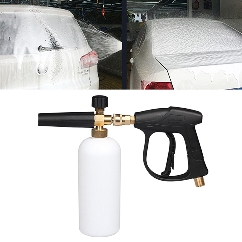 High Pressure Car Wash Foam Gun Soap Foamer Generator Water Sprayer Gun, Inner Wire: 22x1.5