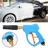 High Pressure Short Fixed Foam Gun for Self-service Car Washing Machine, Outer Wire: 14×1.5