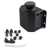 Universal Car Compact Baffled Oil Catch Can Waste Oil Recovery Tank, Capacity: 1L (Black)