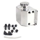 Universal Car Compact Baffled Oil Catch Can Waste Oil Recovery Tank, Capacity: 1L (Silver)