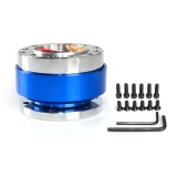Universal 60mm Car Steering Wheel Quick Release HUB Racing Adapter Snap Off Boss Kit (Blue)