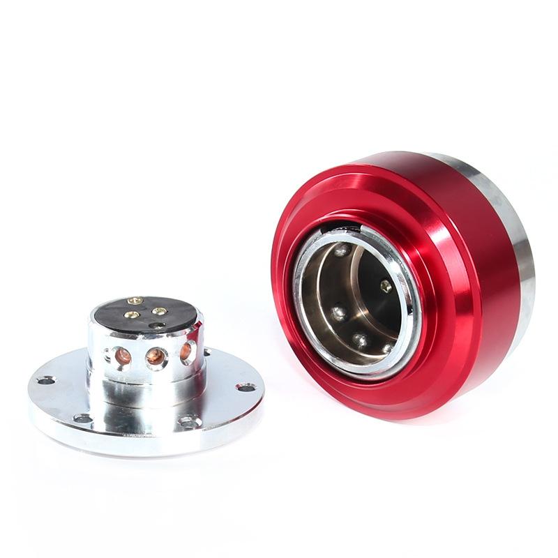 Universal 60mm Car Steering Wheel Quick Release HUB Racing Adapter Snap Off Boss Kit (Blue)