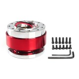 Universal 60mm Car Steering Wheel Quick Release HUB Racing Adapter Snap Off Boss Kit (Red)