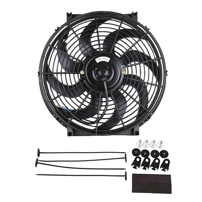 12V 80W 14 inch Car Cooling Fan High-power Modified Tank Fan Cooling Fan Powerful Auto Fan Mini Air Conditioner for Car