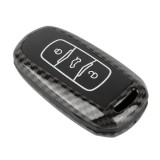 Carbon Fiber Texture Car Key Protective Cover for Geely Emgrand (Black)