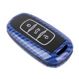 Carbon Fiber Texture Car Key Protective Cover for Geely Emgrand (Blue)