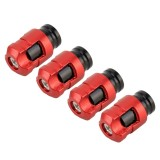 4 PCS Valve Shape Gas Cap Mouthpiece Cover Tire Cap Car Tire Valve Caps (Red)