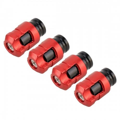 4 PCS Valve Shape Gas Cap Mouthpiece Cover Tire Cap Car Tire Valve Caps (Red)