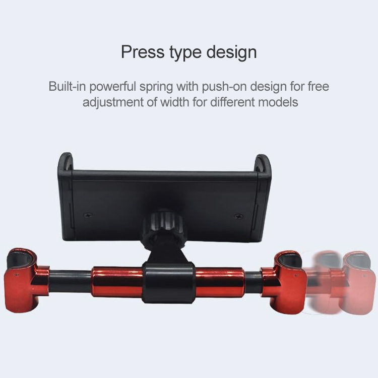 360 Degree Rotating Snap-on Rear Seat Car Phone Holder for 4-11 inch Mobile Phones / Tablets (Red)