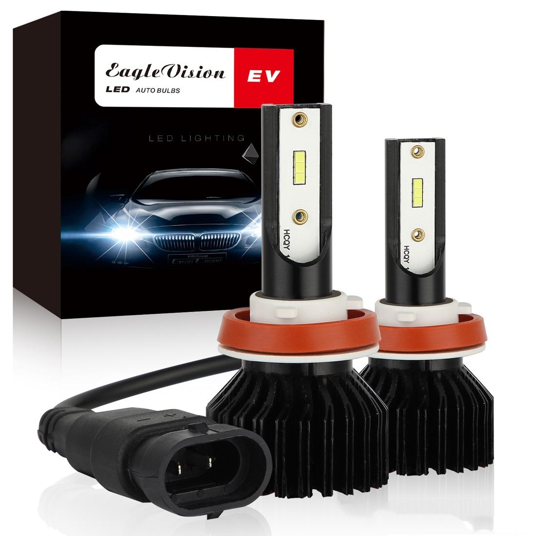 2 PCS EV13 H11 DC9-32V / 14W / 1400LM / 6000K IP67 Car LED Headlight Lamps (White Light)
