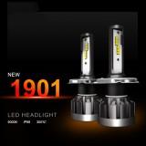 2 PCS 1901 H4 / HB2 / 9003 DC9-36V 14W 6000K 1400LM IP68 Car LED Headlight Lamps (White Light)