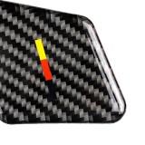 4 PCS Car German Flag Carbon Fiber Door Inner Handle Wrist Panel Decorative Sticker for Mercedes-Benz C Class 2007-2013 / E Class 2009-2016