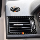 Car German Flag Carbon Fiber Air Outlet Ring + Intermediate Air Outlet + Side Air Outlet Panel Decorative Sticker for Mercedes-Benz W204 207-2010