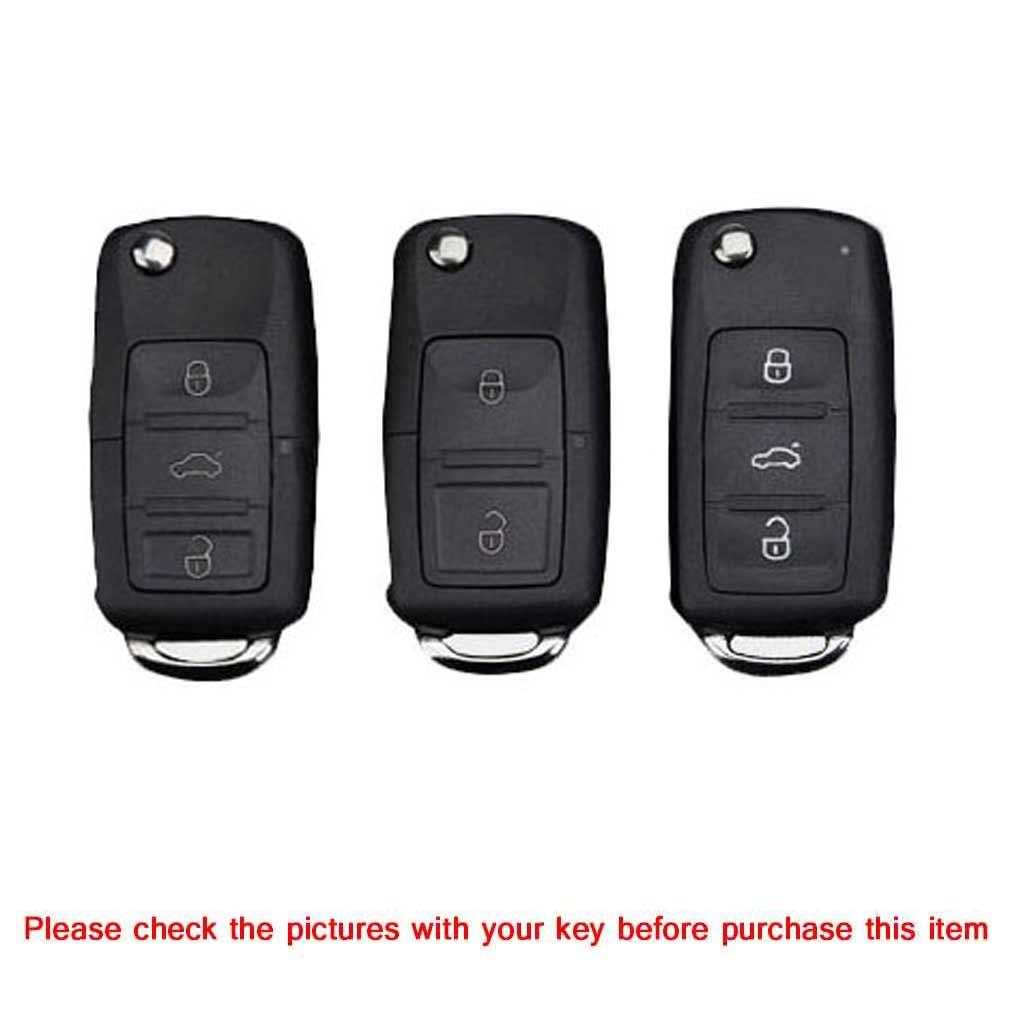 TPU One-piece Electroplating Opening Full Coverage Car Key Case with Key Ring for Volkswagen Lavida / SAGITAR / Jetta / C-TREK / BORA / Tiguan / Santana / POLO (Pink)
