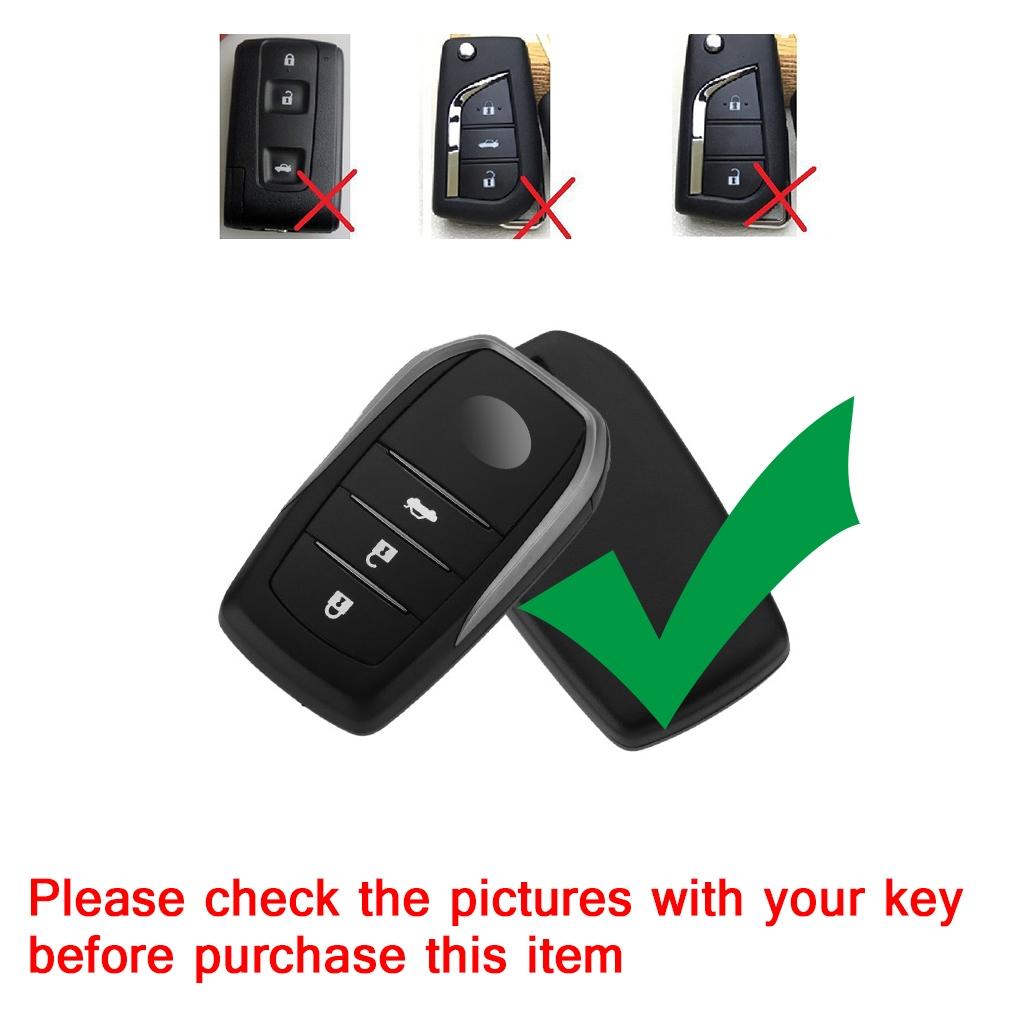 Electroplating TPU Single-shell Car Key Case with Key Ring for TOYOTA HIGHLANDER / CROWN / PRADO / VIOS / CAMRY / COROLLA (Black)