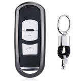 Electroplating TPU Single-shell Car Key Case with Key Ring for Mazda 3 AXELA / CX-8 / CX-5 / CX-4 / 6 ATENZA (Black)