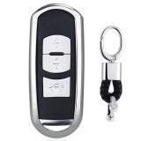Electroplating TPU Single-shell Car Key Case with Key Ring for Mazda 3 AXELA / CX-8 / CX-5 / CX-4 / 6 ATENZA (Silver)