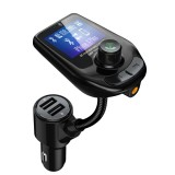 D4 Vehicle Bluetooth 5.0 Hands-free Car Kit QC3.0 FM Transmitter MP3 Audio Player