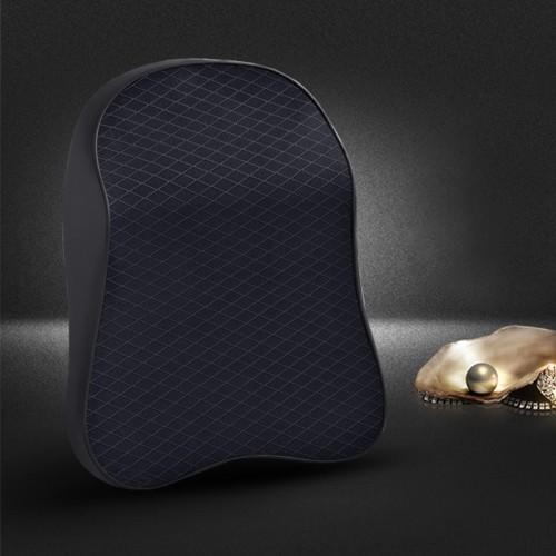 Four Seasons Breathable Memory Foam Car Neck Pillow Polyester Headrest (Black)