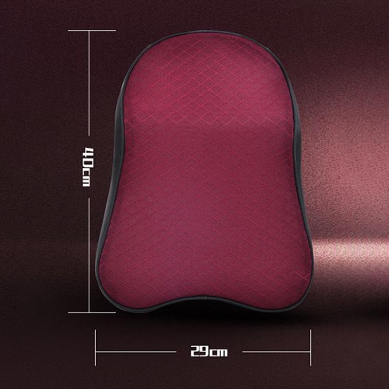 Four Seasons Breathable Memory Foam Car Neck Pillow Polyester Headrest (Coffee)