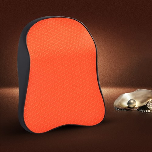 Four Seasons Breathable Memory Foam Car Neck Pillow Polyester Headrest (Orange)